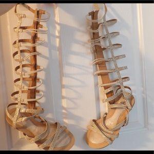 Stuart Weitzman Knee High Gladiator sandals